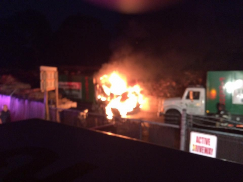 Arson Suspected in truck fires at Andersons Tree Service