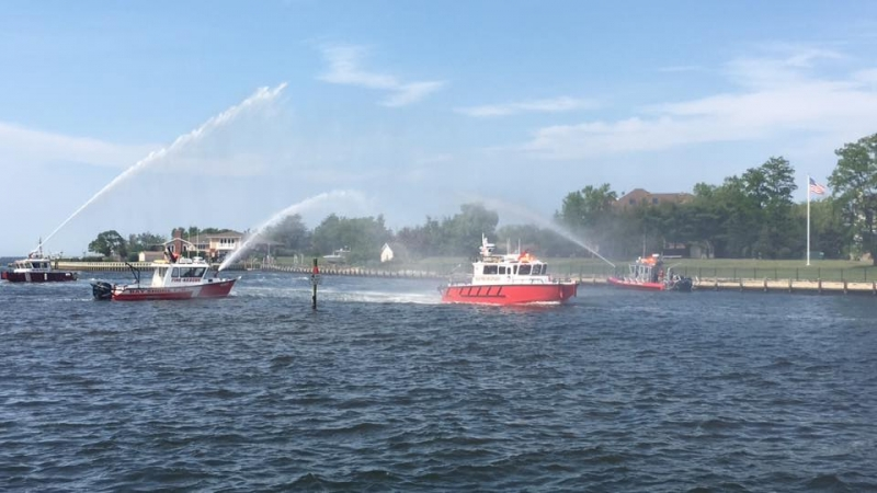 New Fire Boat Christened Into Service