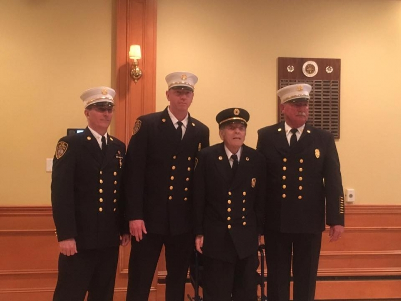 Firefighter Anthony Celentano honored for 50-Years of Service to the Islip FD