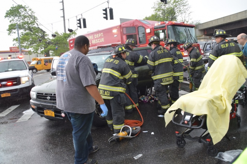 Driver Extricated in daytime accident